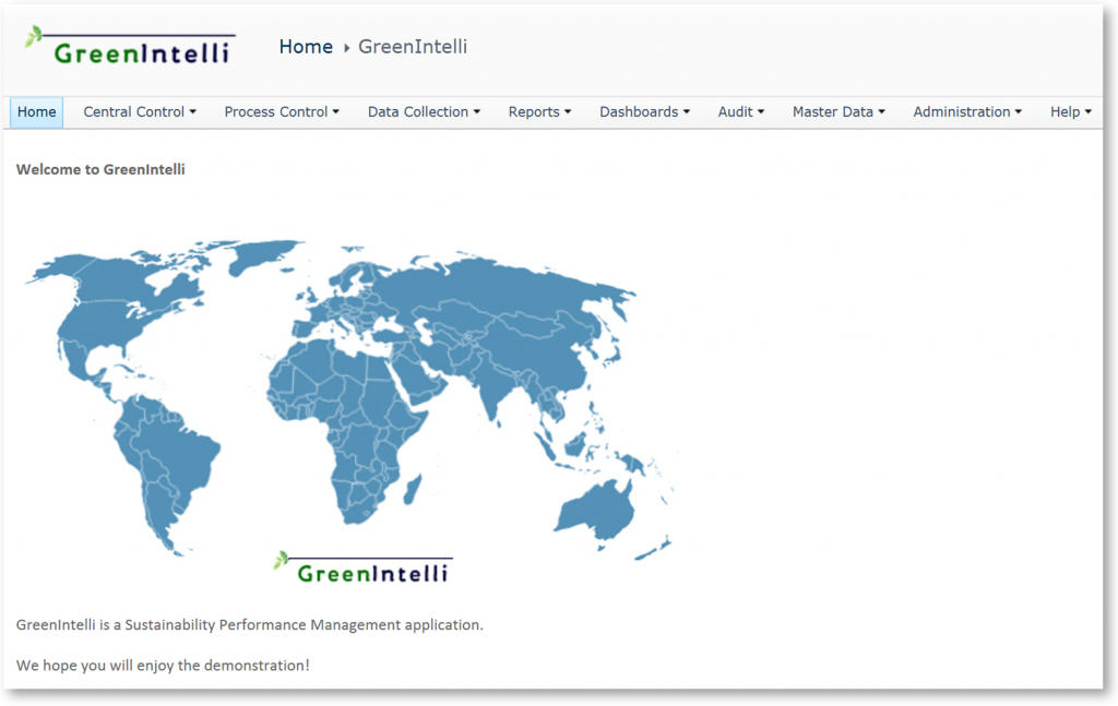 GreenIntelli Home screen